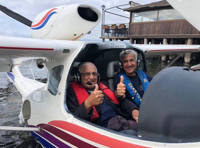 A 90 anni vola con il Seamax!